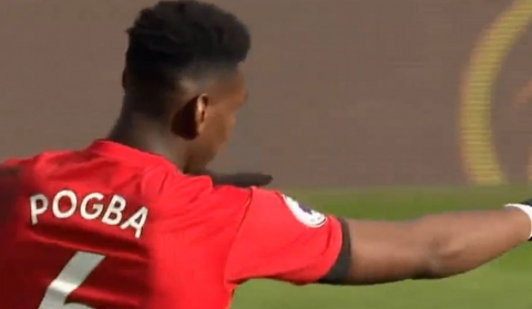 Fulham - Manchester United 0-3, Pogba